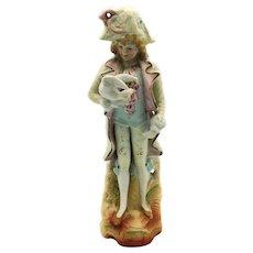 Occupiel Japan Lady with Bird Figurine