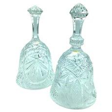 Pressed Glass/Acid-Etched Set of Bells