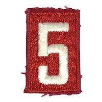Boy Scouts of America - Cub Scout Den Number 5 Shoulder - Patch