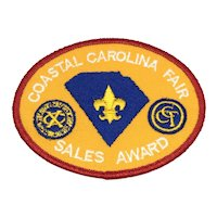Boy Scouts of America - Coastal Carolina Fair Sales Award - Patch