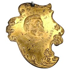 Gold Plated Grover Cleveland Inauguration Token