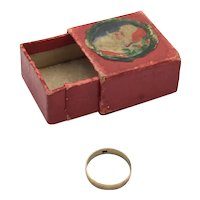 """""""Baby's First Ring"""" in Original Box - 12K Gold"""