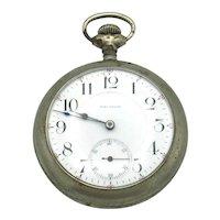 Waltham Open Face Nickel Pocket Watch