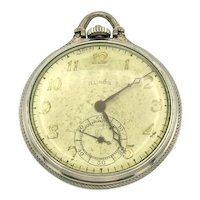 Illinois Open Face 14K Gold Filled Pocket Watch