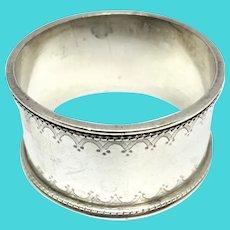 Ornate Napkin Ring - Sterling Silver