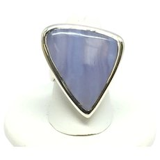 Banded Agate Ring - Sterling Silver