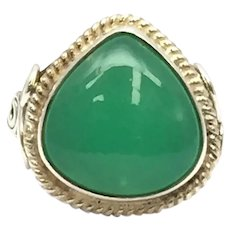 Chrome Chalcedony Ring - Sterling Silver