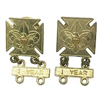 Boy Scouts of America - One Year Pins