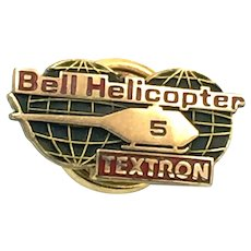 Bell Helicopter Textron - Employee Five Years Service Pin