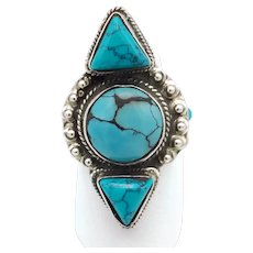 Five-Stone Turquoise Ring - Sterling Silver