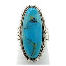 Turquoise Cabochon Ring - Sterling Silver