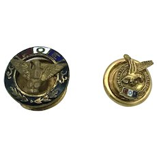 Fraternity Order of Eagles - Screwback and Buttonhole Pins