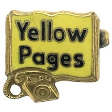 Yellow Pages Salesmans Pin - Dial Phone Era