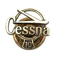 Cessna Aircraft Employee Pin - 10 Years Service