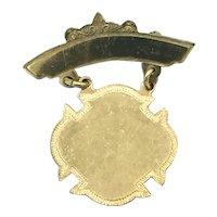 Unengraved Award Medal - 1/20th 10Kt Gold Filled