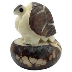 Turtle Carved From Ivory Nuts (Tagua)