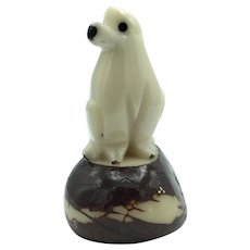 Dog Carved From Ivory Nuts (Tagua)
