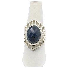 Fluorite Ring - Sterling Silver