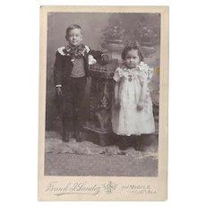X6 Identical Southern Cabinet Card Two Precious Children FRANK SANDOZ Mobile Ala