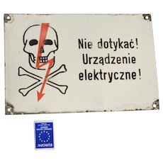 Warning sign, Do not touch! Electric device, Poland, 1970s