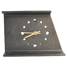 Metal mantel clock, Junghans, Germany, 1970s