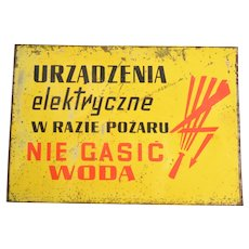 Steel signboard, Electrical appliances, Poland, 1970s