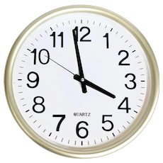 Large industrial style wall clock, Germany, 1980s