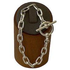 Sterling Silver Paper Clip Bracelet