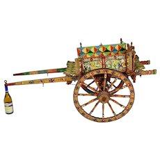 Vintage Sicilian Processional Donkey Cart ( Carretto ) Artist Signed by Maestro Domenico Di Mauro (1913-2016)
