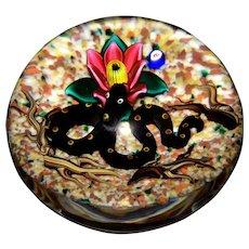 Vintage Bob Banford Art Glass Snake Paperweight