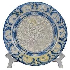 "Dedham Pottery Single Ear Rabbit Plate 8"" Circa 1896 - 1928"