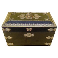 An Unusual English Tea Caddy in the Egyptian Revival Style