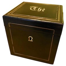 A 19th Century Rosewood and Brass inlaid Tea Caddy