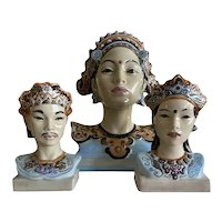 Goldscheider Javanese and Balinese Porcelain Busts