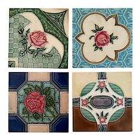 Antique Art Nouveau Tiles