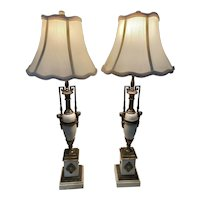 Pair of Bronze Neo Classic Table lamps