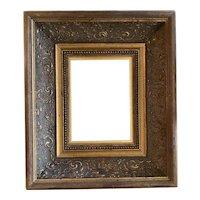 Vintage carved gold leaf picture frame