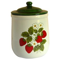 McCoy Strawberry Country Canister, Medium