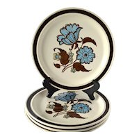 Meadowbrook Dinner Plates, Royal China by Jeannette, Set of 4