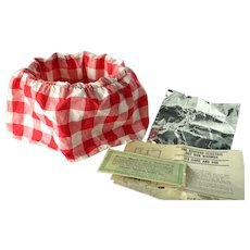 Vintage Electric Bun Warmer by Atlantic Products, Red and White Gingham Cover