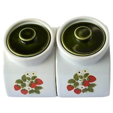 McCoy Canisters Strawberry Country Angled Canisters, Set of 2, 7 inches