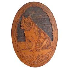 Flemish Art Pyrography Bulldog Portrait