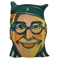 Pre War Japanese Paper Halloween Mask-Harold Lloyd