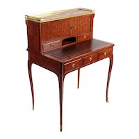 Writing desk with French riser from the 1800s, Transition style