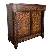 Dutch Empire style sideboard from the 1700s richly inlaid