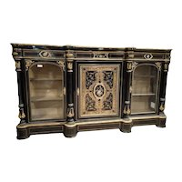 Antique and spectacular French boulle style sideboard from the 1800s