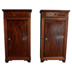 Pair of 19th century French Charles X style bedside tables