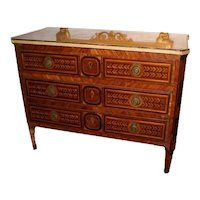 Extraordinary pair of southern Italian Sicilian chest of drawers from the 1700s