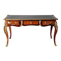 French diplomatic desk Louis XV style from the 1800s