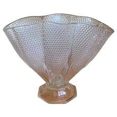 Vintage Duncan Miller Thousand Eye Large Fan Vase